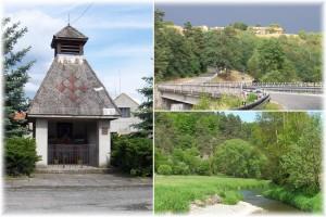 Dolní Hradiště, most pod obcí, řeka Střela
