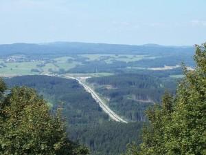 Výhled na dálnici D5