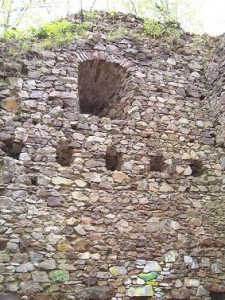 Zeď obytného paláce