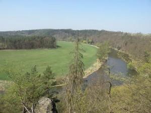 Výhled na řeku Berounku