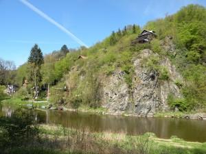 Chaty na skalách nad Sázavou, 17.4.2014