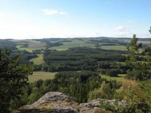 Výhled z vyhlídky Kozelka, říjen 2011